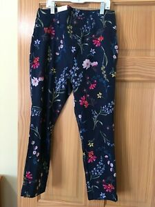 New Time and Tru Women Capri Jeggings Stretch Navy Floral Many sizes