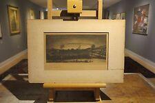John H. Bostwick 1937 industrial landscape etching Bristol PA factory