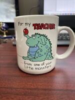 For my Teacher Mug  From One of Your Monsters Shoebox Greetings Hallmark 1986