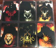 A Game of Thrones The Card Game LCG set of 6 Custom House Cards Tomasz Jedruszek