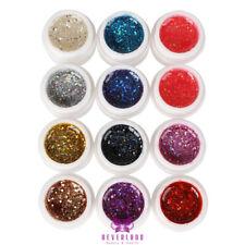 12 Colores Nail Color Brillo Esmalte En Gel UV Builder Gel Nail Art Fasle Punta Set