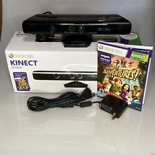 Xbox 360 kinect sensor with adapter And Kinect Adventures. Complete In Box