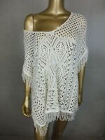 SUSSAN JUMPER SWEATER  CROCHET PONCHO TOP - ONE SIZE