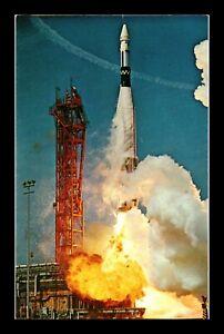 DR JIM STAMPS US LIFT OFF ATLAS AGENA KENNEDY SPACE CENTER POSTCARD FLORIDA