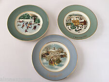 Lot of 3 Avon Wedgwood Christmas Collector Plates, 1975, 1977 & 1980