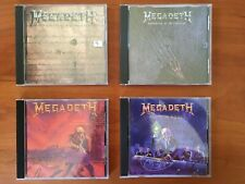 Megadeth CDs Lot Of 4, Peace Sells, Rust in Peace, Symphony , foreclosure single