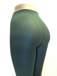 Women Tights Plus Sz Hunter Green Nylon Pantyhose Opaque Queen Music Legs 747 Q