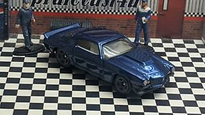 """HOT WHEELS 1970 CHEVY CAMARO RS LOOSE 1:64 SCALE CUSTOM """"BLUE"""" COLLECTION SERIES"""