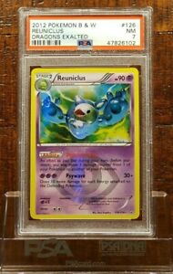 PSA 7 - Reuniclus #126/124 - Dragons Exalted - Secret Rare Pokemon Card - NM