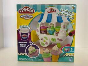 Hasbro PLAY-DOH Sweet Shoppe Ice Cream Sundae Cart Playset A2106 - Open Box