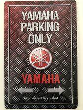 Blechschild 30 X 20 cm Yamaha Parking Only