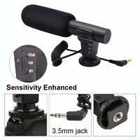 Mic-05 3.5mm DV Stereo Microphone For Canon Nikon Video Camera DSLR Camcorder