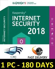 Kaspersky internet security 2018 1pc 6month Global license key eDelivery