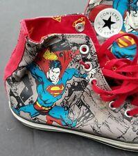 "CONVERSE Chuck Taylor All Star ""SUPERMAN"" High Top Canvas Shoes Men's 8.5"