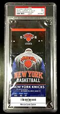 KRISTAPS PORZINGIS NEW YORK KNICKS MSG DEBUT FULL TICKET SLAB PSA MINT 9