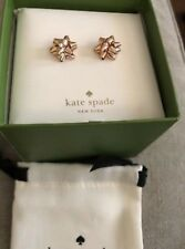 Kate Spade Bourgeois Rose Gold Bow Earrings Gift Box
