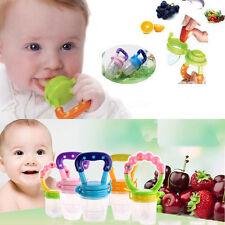 Baby Pacifier Feeding Fresh Food Supplies Safe Nibbler Feeder Tool Blue L