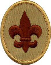 OFFICIAL BSA TENDERFOOT SCOUT RANK PATCH - Boy Cub Scouts (Tan Backing)