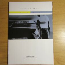 Lincoln Mark VIII 4.6 V8 COUPE USA American Market brochure juillet 1993 pour 1994