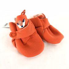 Cat & Jack Baby Crib Shoes Soft Fabric Fox Orange Size 6-9 Months