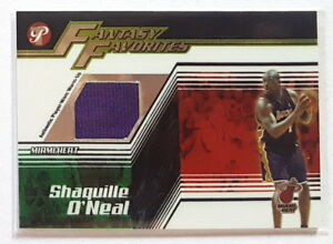 Shaquille O'Neal 2004-05 Topps Pristine FANTASY FAVORITES GAME USED JERSEY SP