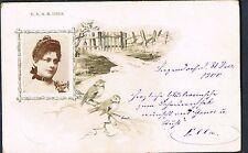 AUSTRO HUNGARIAN POSTCARD DEC 1900 ELLA SENDS NEW YEARS GREETINGS