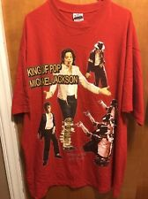 Michael Jackson ~Men's 3Xl ~ New ~ King of Pop 1958 - 2009 Tribute T Shirt Red