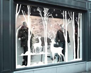 Christmas Window Stickers - Christmas Winter Wonderland Scene - Shop Window Disp