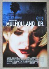MULHOLLAND DRIVE ORIGINAL 2001 DS 1SHT MOVIE POSTER RLD LAURA ELENA HARRING EX