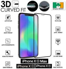 iPhone Xs MAX  Screen Protector Tempered Glass 3D Curved Full Cover