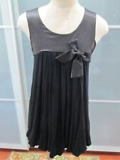 Jus d'Orange Robe Star Bubble Hem Satin & Bow Detail Dress Fits Size S