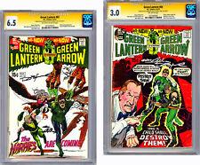 GREEN LANTERN #82-83 CGC-SS 6.5-3.0 SIGNED 2X BY NEAL ADAMS & DENNY O'NEIL 1970