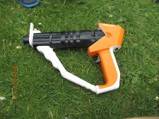 TOY SPACE GUN TRIANGULAR ORANGE BLACK WHITE VGC SCIFI COSPLAY LARP WAR GUN