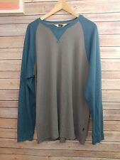 Quicksilver Mountain divison mens size XL blue grey long sleeve thermal shirt