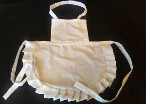 GIRLS POLY COTTON frilled  Apron Victorian WW1 Edwardian Maid FANCY DRESS