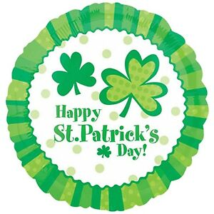 """St Patrick's Day Foil Balloon """"Happy St Patrick's Day"""" 45cm - Party Supplies"""