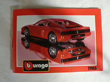 â–¡ Burago â–¡ die cast automobile catalog for european scale toy car models â—�