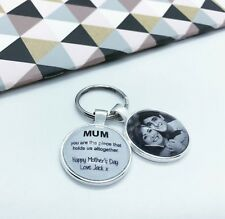 Personalised 'MUM' YOU ARE THE PIECE' Mothers Day Key chain Gift  (PHOTO INSERT)