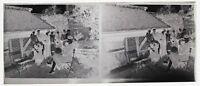 Vida Familiar Foto Placa De Cristal Estéreo Negativas Vintage LL5