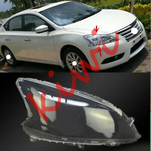 For Nissan Sentra 2013-2015 Right Side Headlight Cover Clear PC + Glue replace