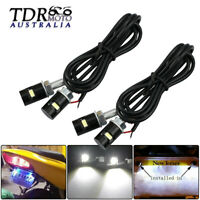 White 4x 12V Car Motorcycle LED Number License Plate Light Screw Bolt Bulbs Lamp