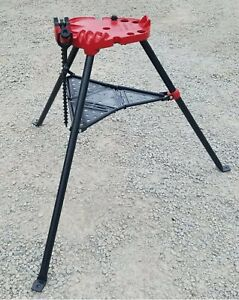 "Ridgid Number 450 Tristand Portable Chain Pipe Vice 1/8 to 5"" Tripod Stand -NICE"