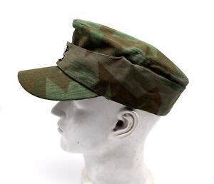 WAR REENACTMENT  Replica Collectable WWII German Army Splinter Cap Hat 58cm