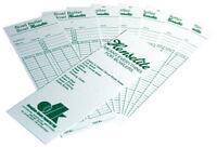 100 Henselite Lawn Bowls Score Cards - Bowler Record - Card / Bowl Scorecard