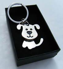 Dog Key Chain Chrome Metal Moving Dog Keyring Gift Boxed BRAND NEW