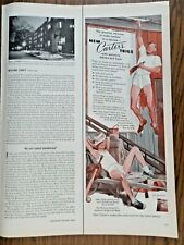 1952 Carter's Trigs Underwear Ad  Baseball Theme Painting Father Son