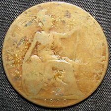 1920 Great Britain Half Penny Coin