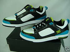 New Mens 11.5 DC Premier SE Black Turquoise Leather Skate Shoes $85