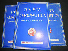 1970 RIVISTA AERONAUTICA ASTRONAUTICA MISSILISTICA ANNATA COMPLETA