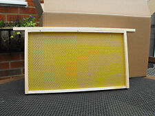 10 DN1 Beehive Frames with Wired Foundation, Assembled